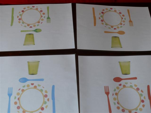 set de table pour dinette